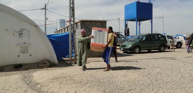 TIKA Helped Turkmens in Yahyava Refugee Camp in Kerkuk, Iraq  - 1