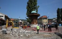 Sarajevo's historical bazaar Bashcharshiya has been being renovated