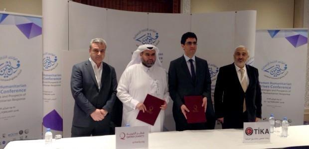 توقيع مذكرة حسن النية بين وكالة تيكا التركية وقطر الخيرية - 3