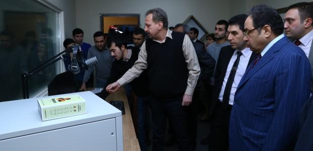 تيكا تأسس ستديوهات تلفيزيونية في جامعة باكو الحكومية في اذربيجان - 2