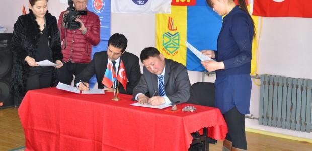 وكالة تيكا تجهز شعبة الفنون والتكنولوجية بالمعدات في مدرسة قضاء ارفايهير المتوسطة في مغولستان - 1