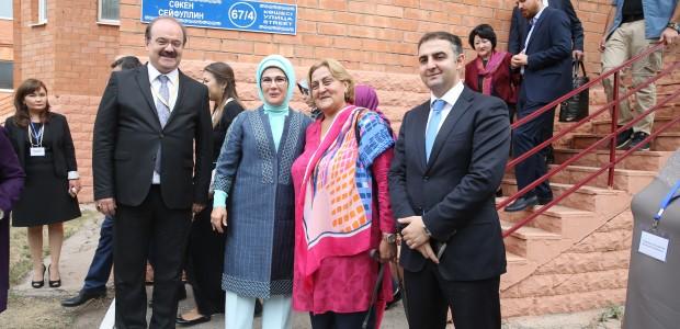 Emine Erdoğan, Astana Çocuk Evi ve Yetimhanesini Ziyaret Etti  - 3