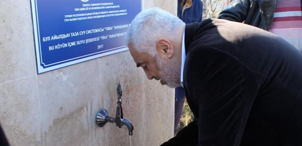 TİKA'dan Kırgızistan'da Kızıl Su Köyü'ne Temiz İçme Suyu  - 1
