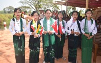 The Bridge and The Road That were Constructed in Myanmar's Magyikwin Village were Inaugurated