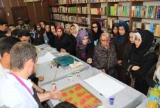 TİKA'dan Afganistan'da Türk Ebru Kursu