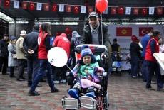 TİKA'dan Kırgızistan'a Tekerlekli Sandalye Desteği