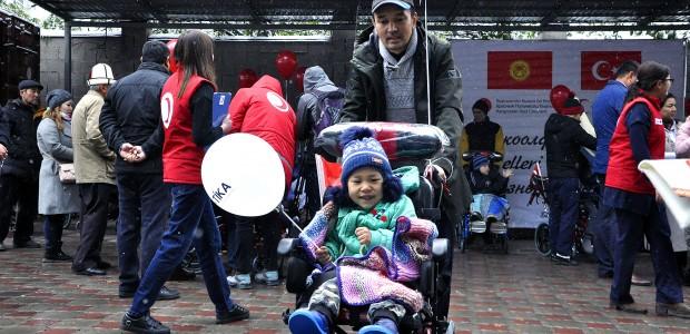 TİKA Provides Wheelchair Support to Kyrgyzstan  - 1