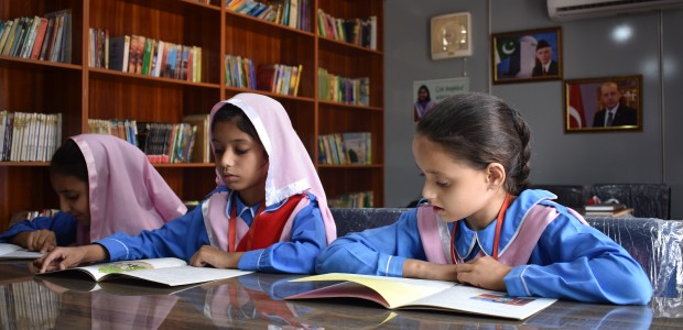 TİKA Opens a Library and a Playground at a Girls' School in Pakistan  - 1
