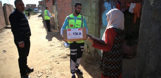 TİKA'dan Tunus'taki Sel Mağdurlarına Yardım  - 1