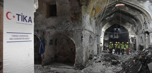 TİKA Takes Action for Burned Historical Kayseri Bazaar in Kirkuk - 5