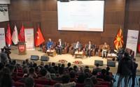 """Makedonya'da """"Balkanlarda Barışın Dili Türkçe"""" Paneli"""