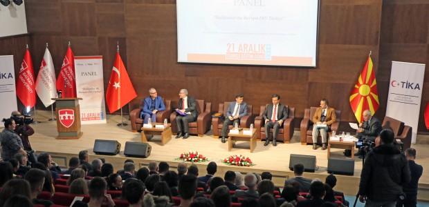 """Makedonya'da """"Balkanlarda Barışın Dili Türkçe"""" Paneli - 1"""