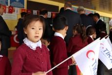 TİKA'nın Kırgızistan'da Yenilediği Okul Hizmete Açıldı
