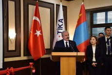 The Speaker of the Grand National Assembly of Turkey (TBMM) Mustafa Şentop Initiates TİKA Projects in Mongolia
