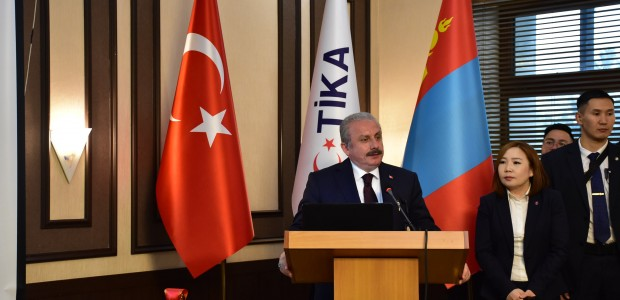 The Speaker of the Grand National Assembly of Turkey (TBMM) Mustafa Şentop Initiates TİKA Projects in Mongolia - 1