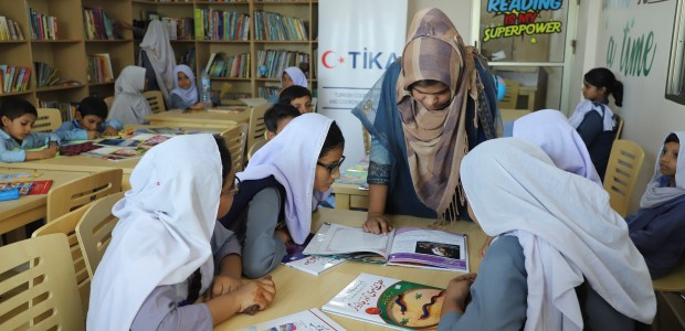 TİKA Opened a Children's Library with 5000 Books in Pakistan - 2