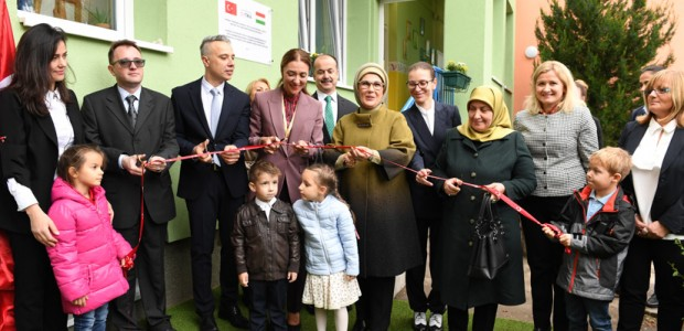 First Lady Emine Erdoğan inaugurates Rainbow Kindergarten in Hungary - 1