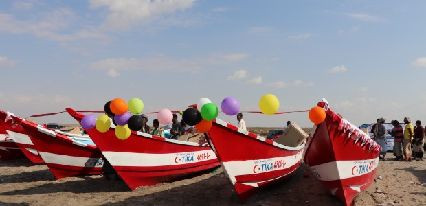 TİKA Provides Boats to Yemeni Fishermen - 1