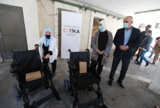 TİKA Distributed Electric Wheelchairs to Palestinians with Special Needs
