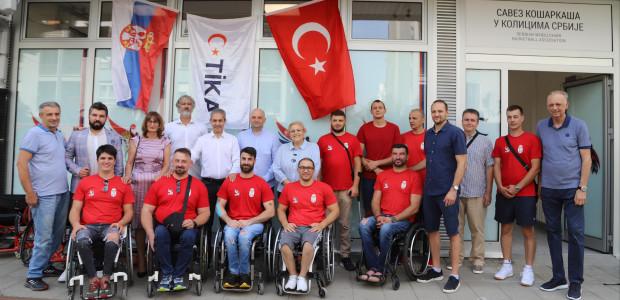 TİKA'dan Sırbistan Tekerlekli Sandalye Basketbol Federasyonuna Destek  - 1