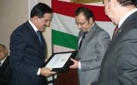 Tacikistan Cumhuriyeti Çalışma Bakanlığından TİKA'ya Teşekkür Sertifikası
