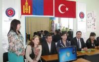 Moğolistan'da Mesleki Eğitim ve Öğretim Merkezine Malzeme Desteği