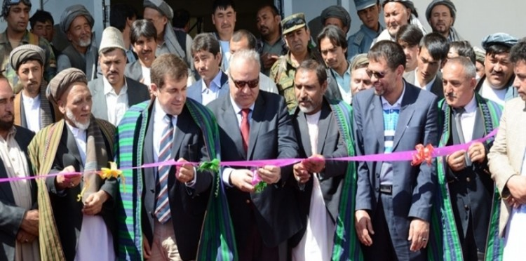 The Construction Of The School In Afghanistan's Belh Province Was Completed And Opened With A Ceremony