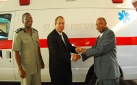 An Ambulance Is Supplied To The Carribean Country Of Saint Lucia