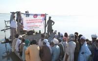 Pakistan'da Selzedelere Yemek Yardımı