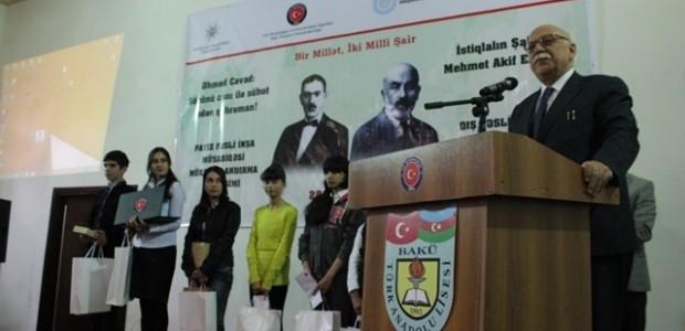 Yenilenen Bakü Türk Anadolu Lisesi Bir Milletin İki Milli Şairini Anarak Hizmete Girdi    - 3