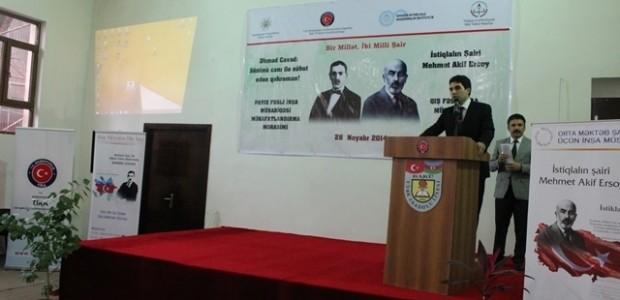 Yenilenen Bakü Türk Anadolu Lisesi Bir Milletin İki Milli Şairini Anarak Hizmete Girdi    - 1
